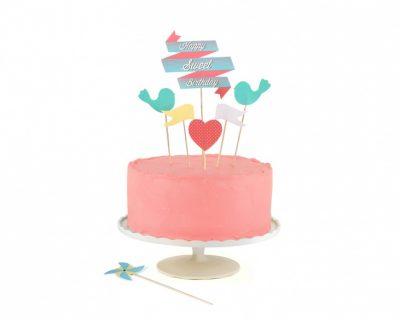 Décoration de gâteau d'anniversaire