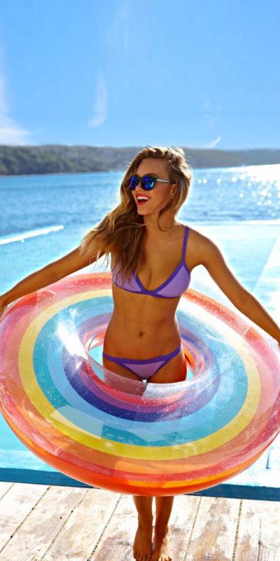 Grande Bouée gonflable Rainbow
