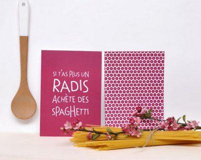 Carte Radis Spaghettis