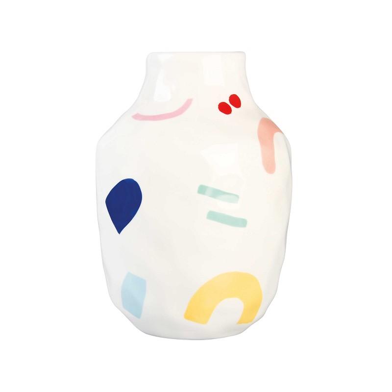 vase graphique peint large