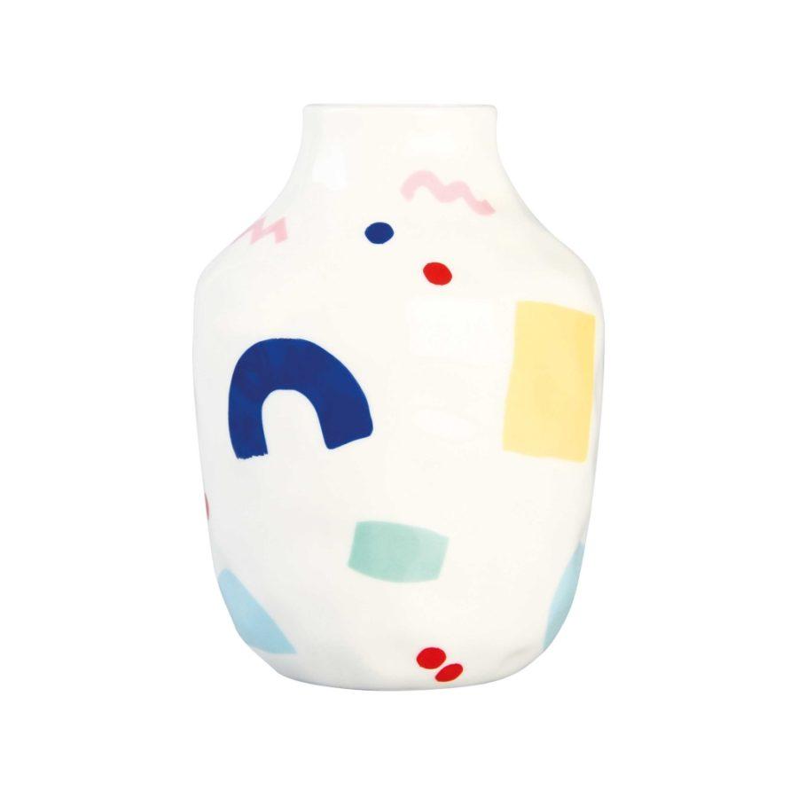 Vase graphique painted