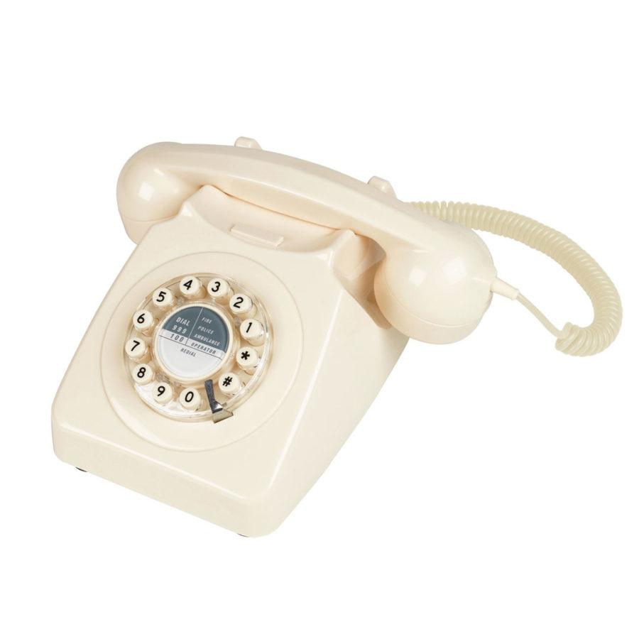 téléphone vintage rétro ivoire wild and wolf
