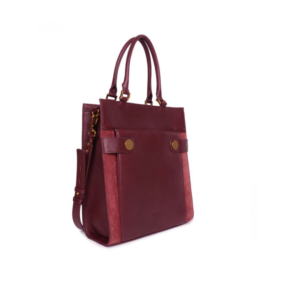 Sac cabas vertical Harleth figue Nat et Nin