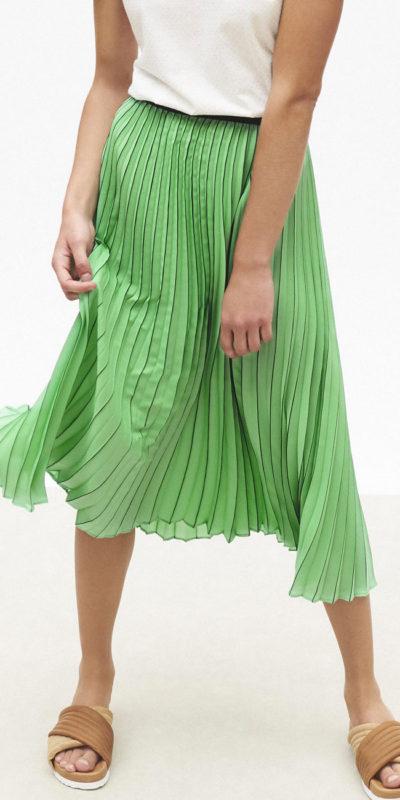 Jupe plissée verte Maggie