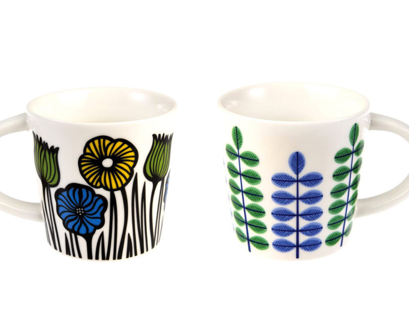 lot de deux mugs à café fleuris rex international 1
