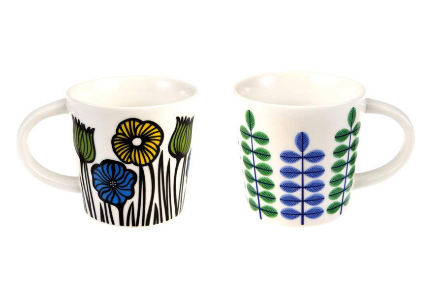 lot de deux mugs à café fleuris rex international 1