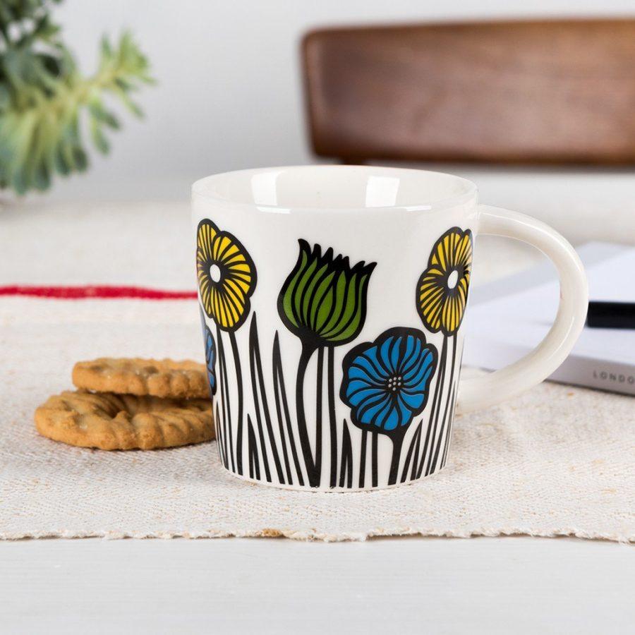 lot de deux mugs à café fleuris rex international 5