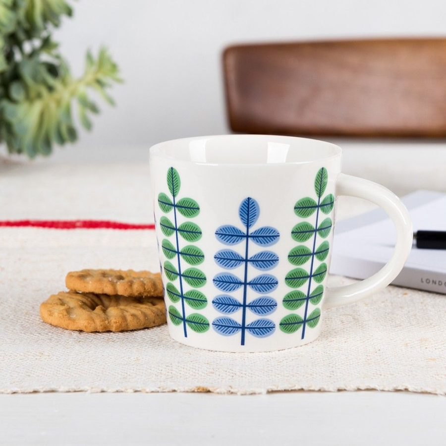lot de deux mugs à café fleuris rex international 4