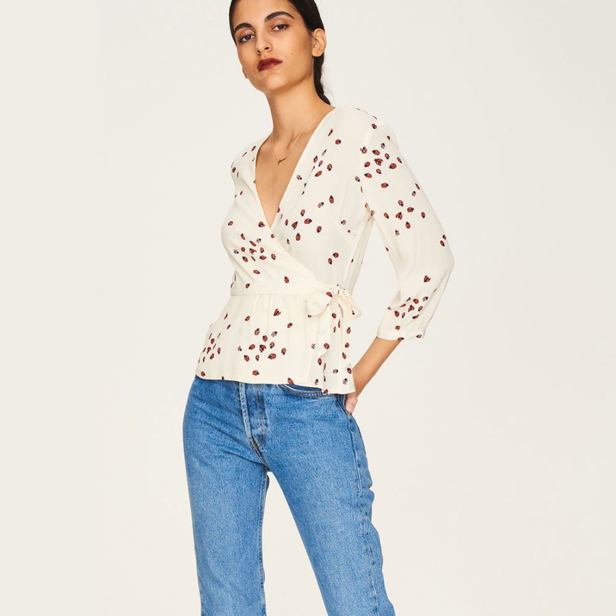 blouse barbes coccinelle idano