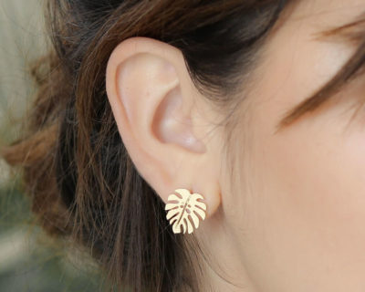 boucles d'oreilles feuille jungle shlomit ofir 1