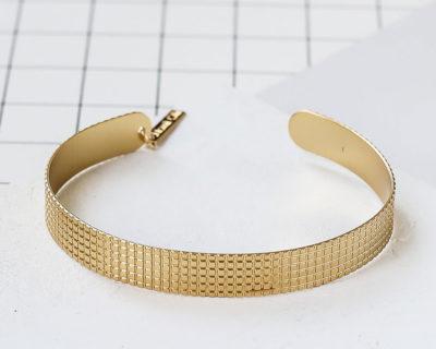 bracelet jonc gris shlomit ofir