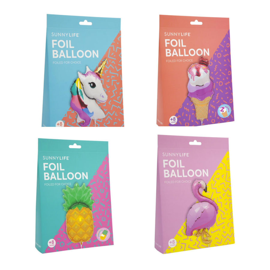 ballon en aluminium packaging Sunnylife