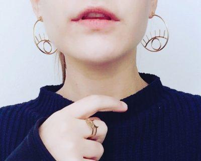 Boucles d'oreilles créoles oeil