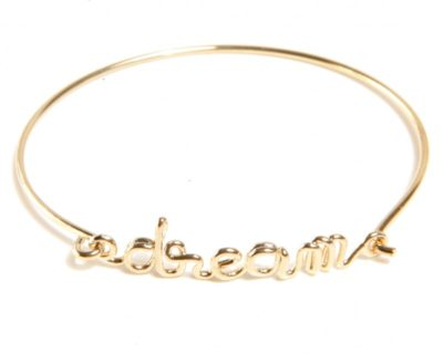 Bracelet à message Dream doré