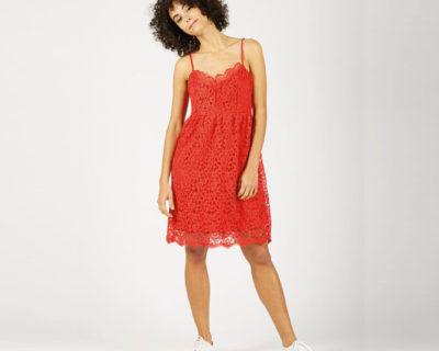 robe irina dentelle rouge