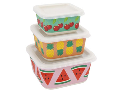 set de trois éco lunch box Sunnylife