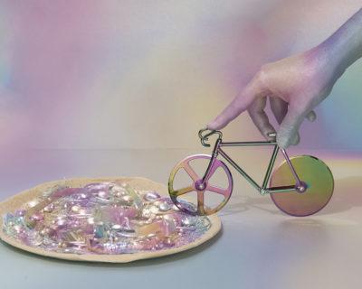 ambiance coupe pizza vélo fixie iridescent DOIY