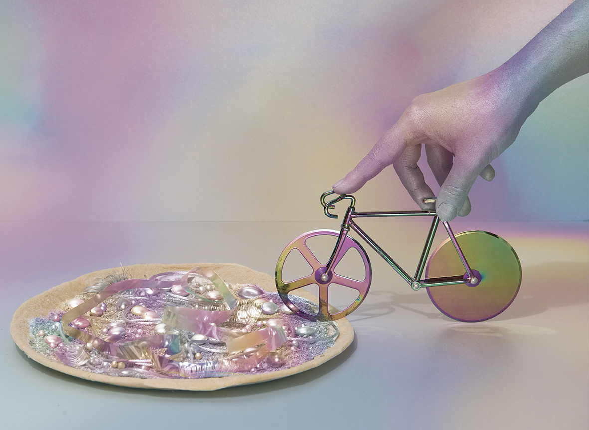 ambiance coupe pizza vélo fixie iridescent DOIY