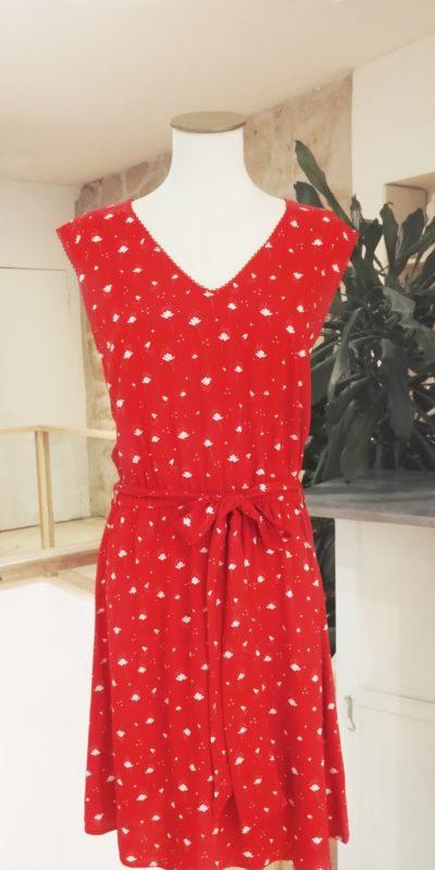 Robe rouge fleurie Amina La Petite Etoile