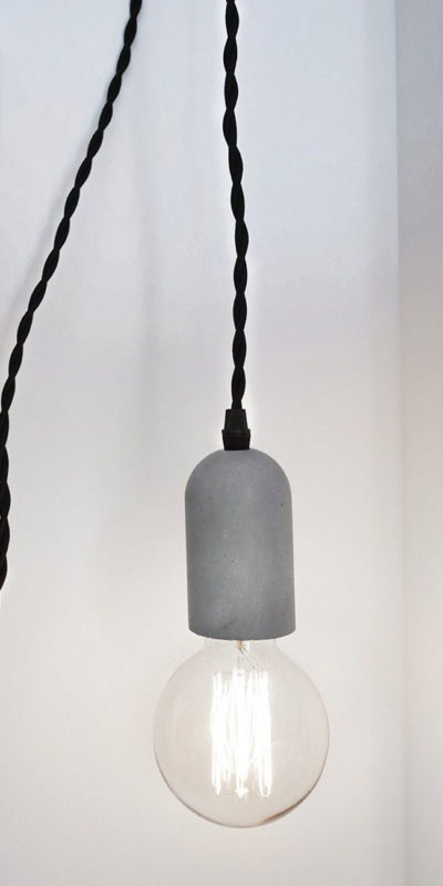 lampe suspension béton kikkerland