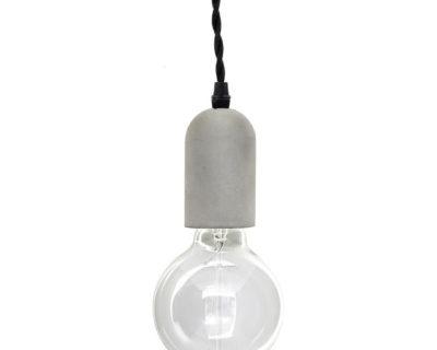 lampe suspension béton kikkerland