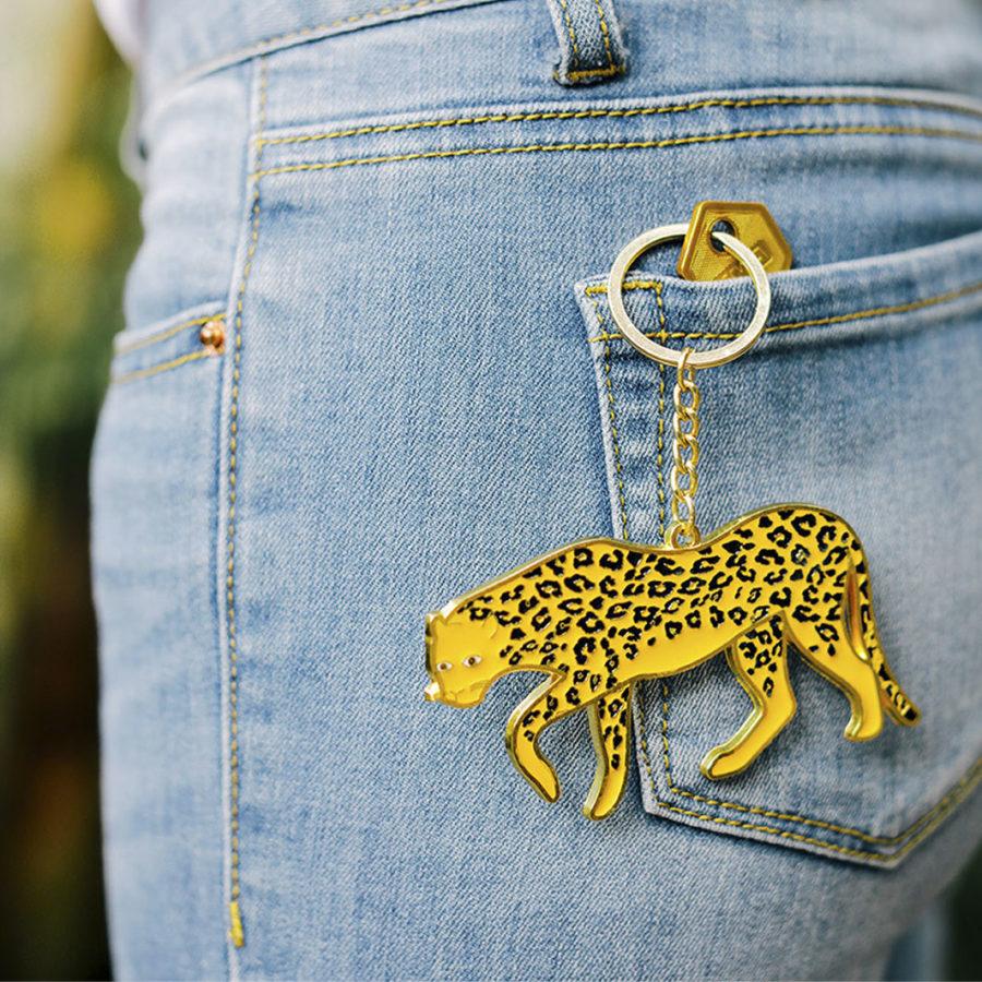 porte clef oversized léopard doiy