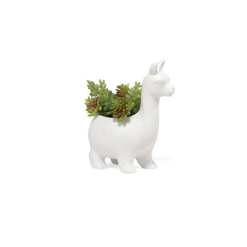 lloyd lama pot de fleur kikkerland