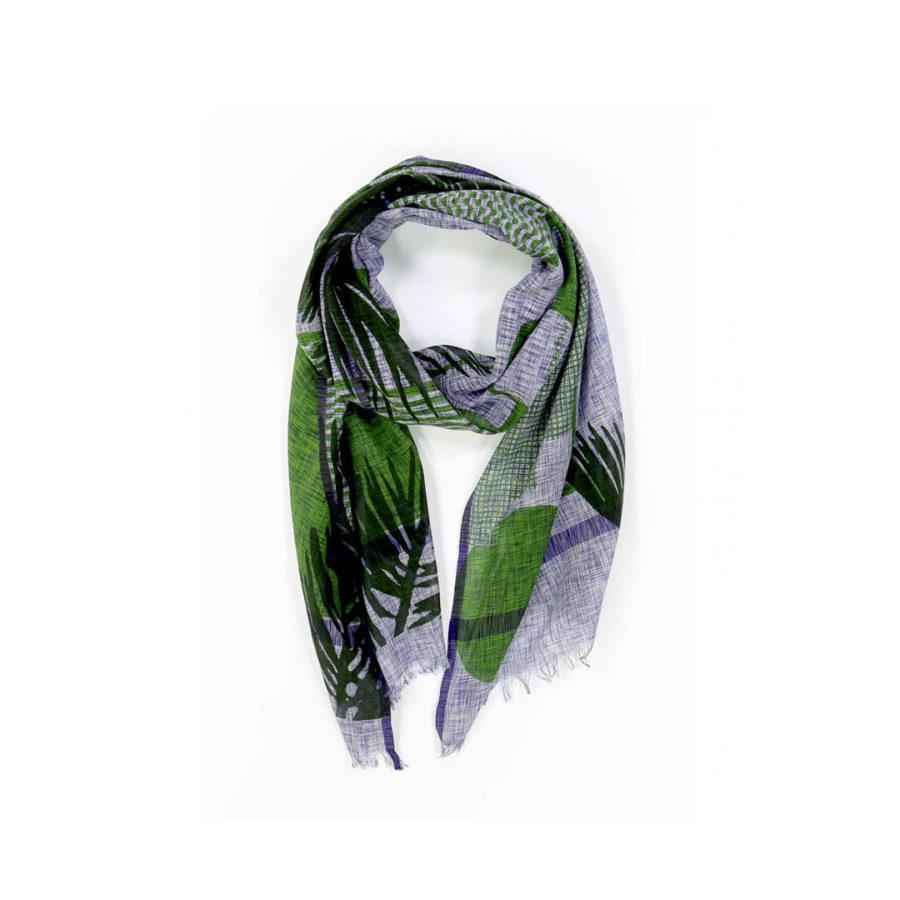 foulard Palme vert Ma Poésie