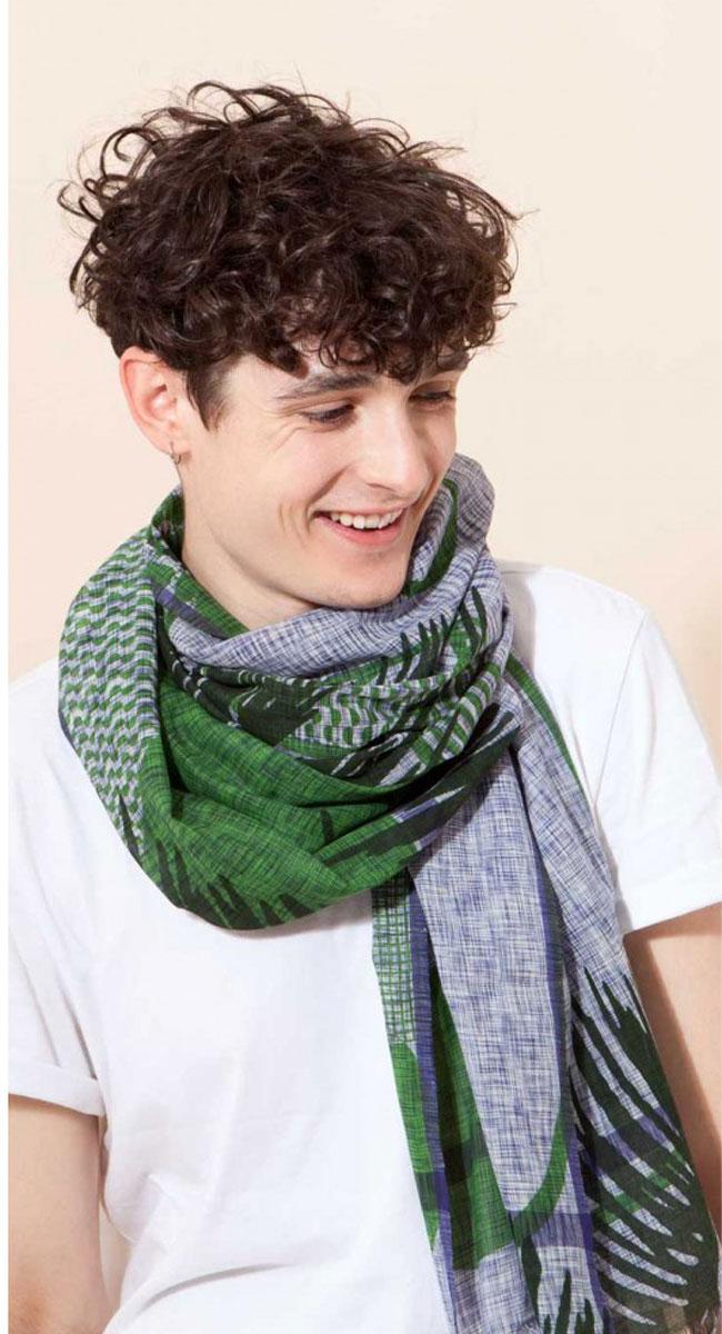 foulard palme vert mapoesie
