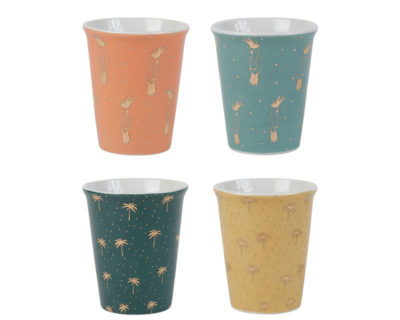 set de 4 cups cocodelice sema design