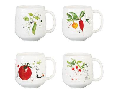 set de 4 mugs yvette &k