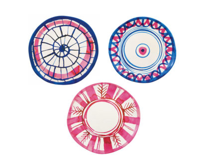 Set de 3 assiettes bambou Anouk Rose
