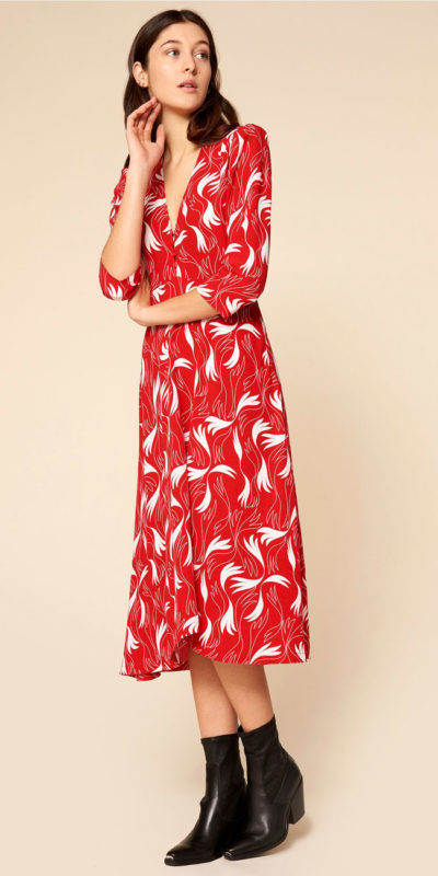 robe dacquoise scarlet idano