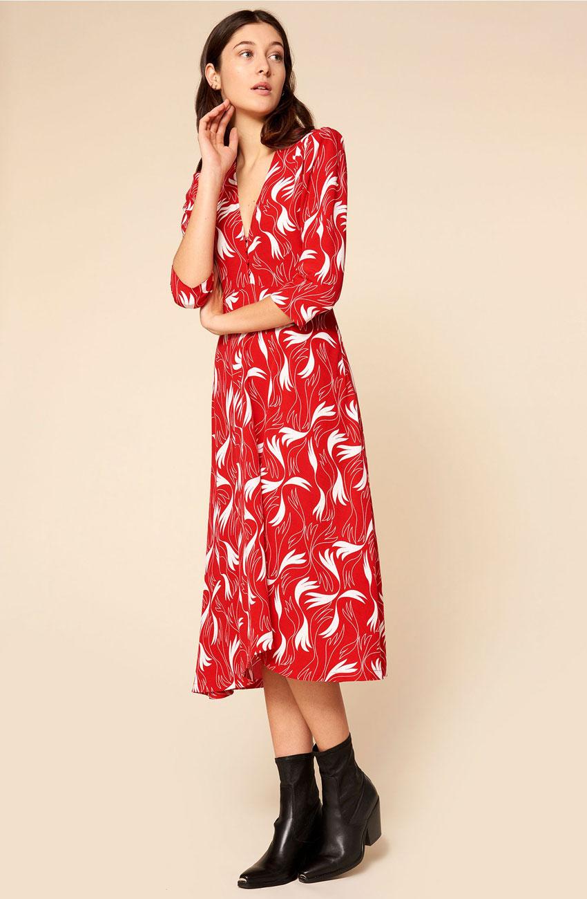 robe dacquoise scarlet idano