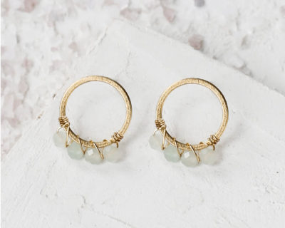 boucles d'oreilles snow circle shlomit ofir