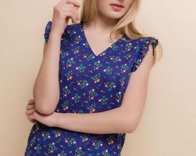 blouse bleu marfaa
