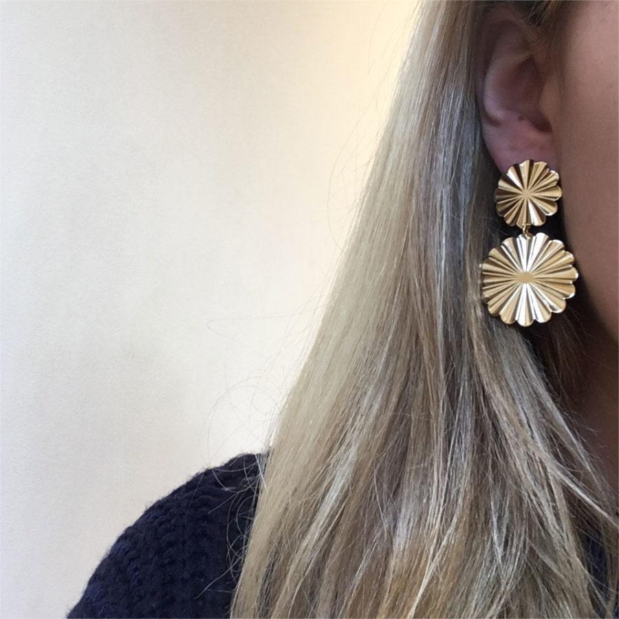 boucles d'oreilles flowers