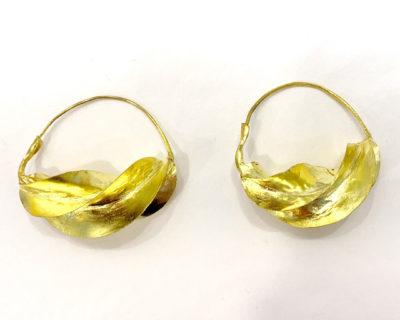 grandes créoles dorées fulani