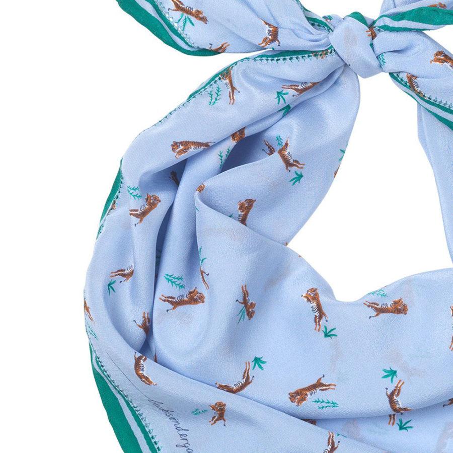 foulard carré en soie asha becksondergaard