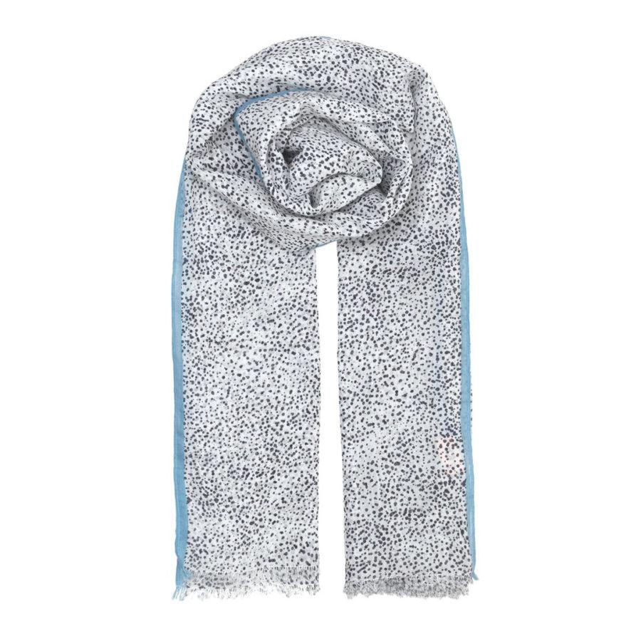 foulard inky dots becksondergaard dark navy