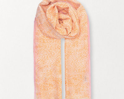 foulard inky dots orange becksondergaard