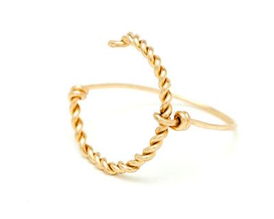775e1acc940c8 Bague arc de cercle YAY en plaqué or, artisanat parisien chez Made ...