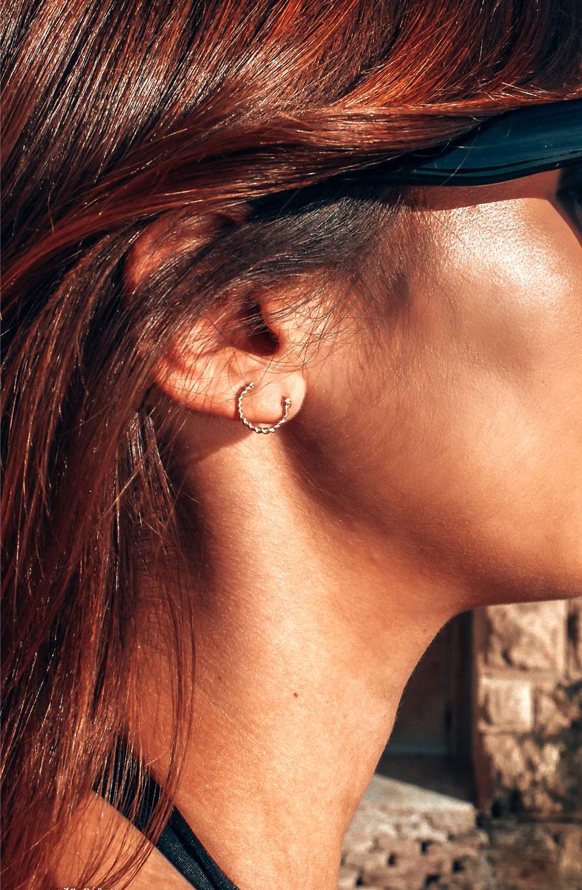 boucles d'oreilles cuff torsadées yay