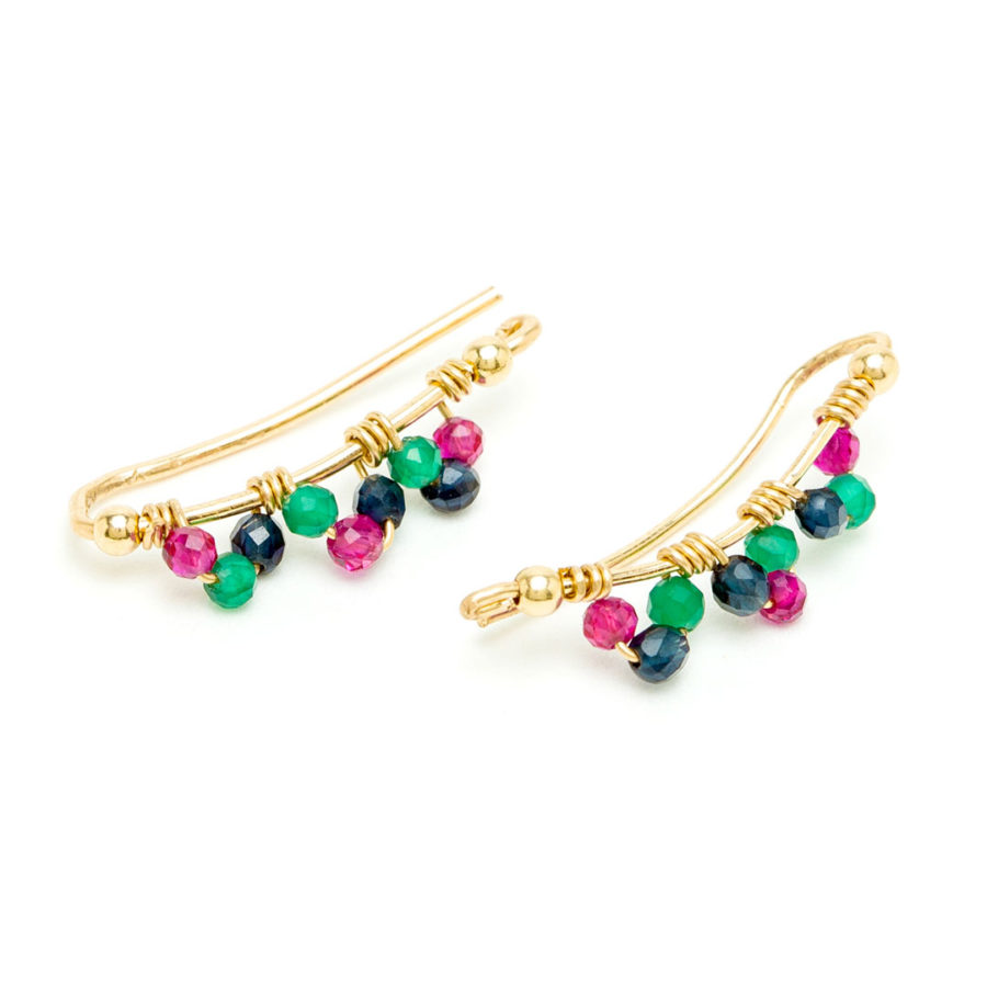 boucles d'oreilels cuff frida multicolore yay