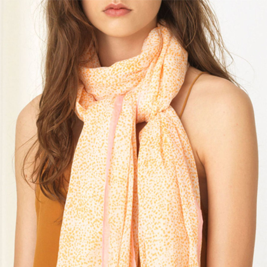 foulard inky dots orange becksondergaard