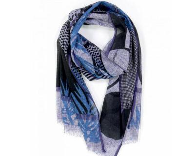 foulard palme bleu mapoésie