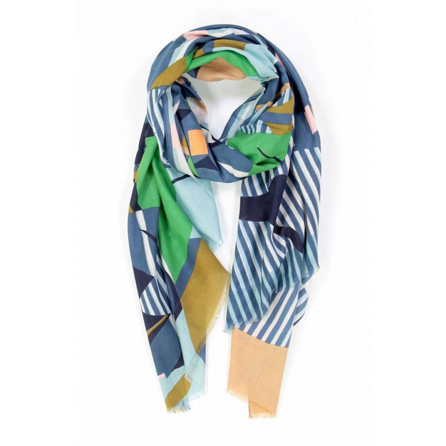 foulard volute vert mapoésie