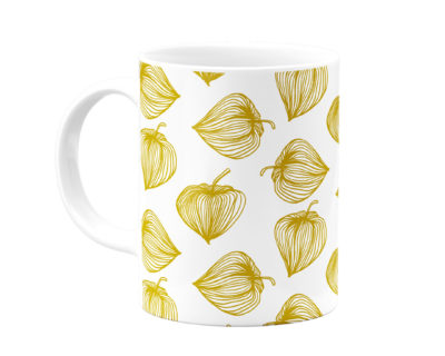 mug blanc fleurs dorées atomic soda