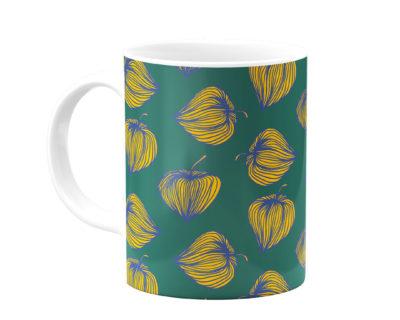 mug vert fleurs dorées atomic soda