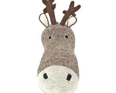 trophée tête de renne en crochet anne claire petit